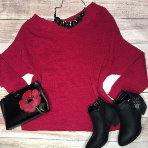 Torrid Off the Shoulder Red Sweater Size 3x